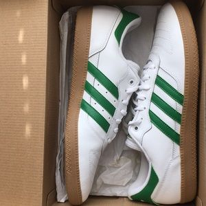 Adidas Green & White Sneakers
